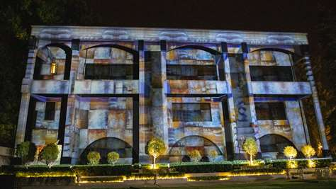Goldis Tile's Projection Mapping 2nd annual celebration