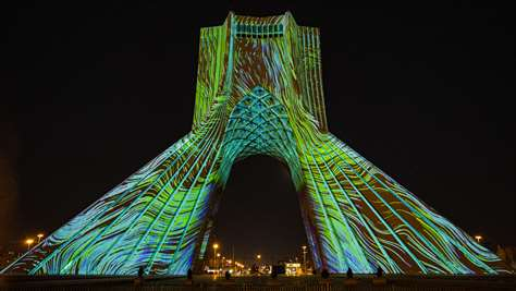 Azadi Tower Projection Mapping