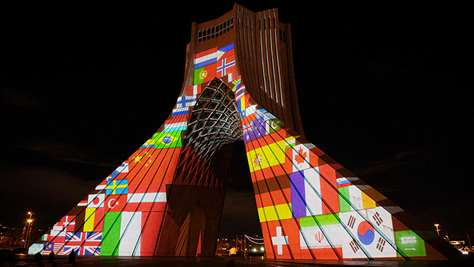 The Projection mapping of Tehran's Azadi Tower